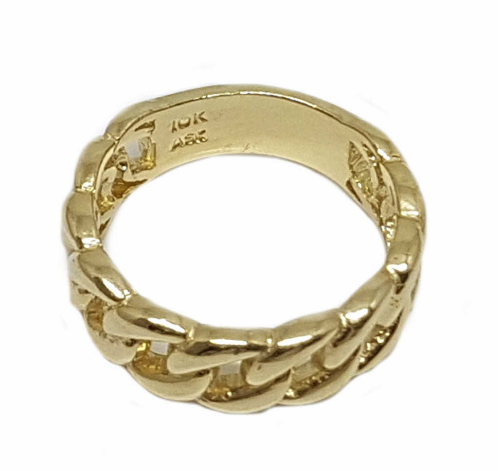 Perfect Solid Gold Engagement 10K Yellow Gold 5.9 Grams Ring for Men - Solid Gold Online