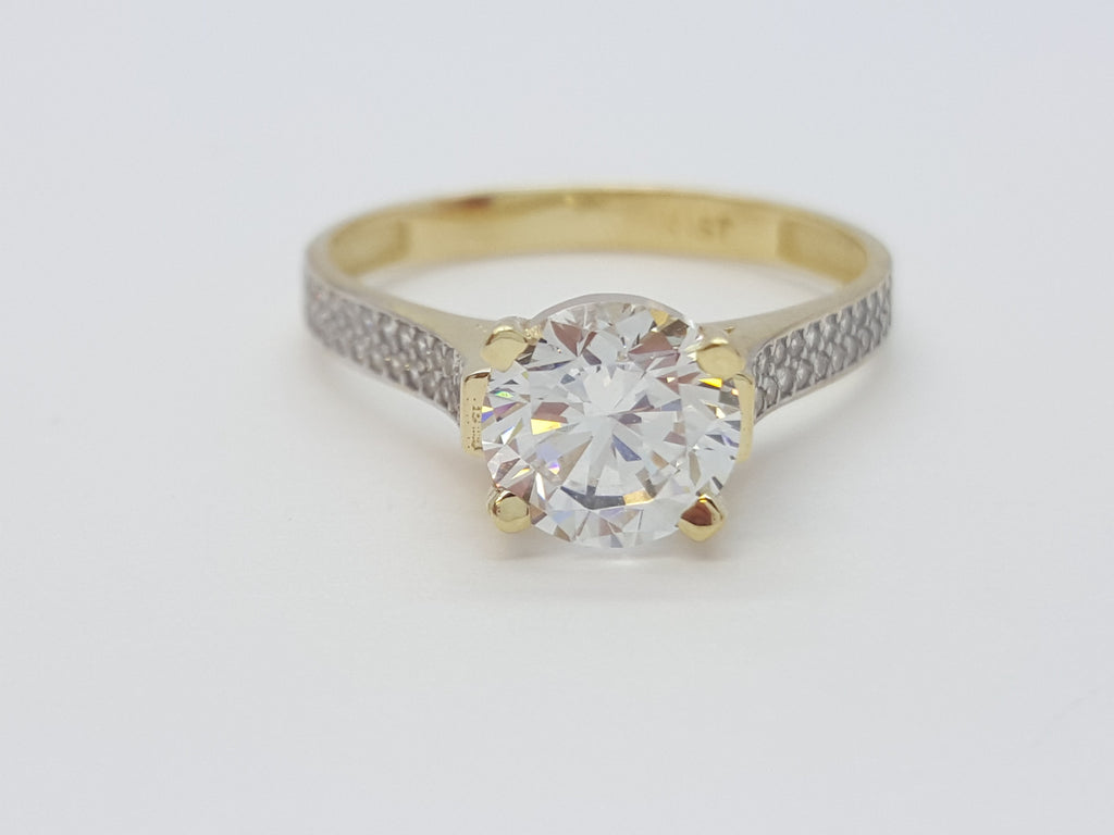 Gaetana 10K Yellow Solid Gold Diamond Women Ring