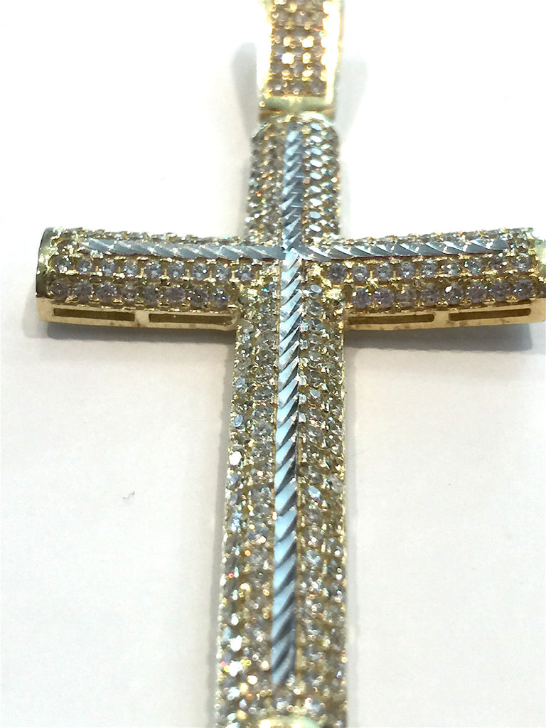 10k Yellow Gold Elegant Cross Busto Pendant 6.87 gram Men Pendant - Solid Gold Online