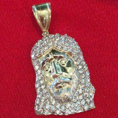 Jesus Rovigo 10K Yellow Gold 4.21 Gr Men Pendant