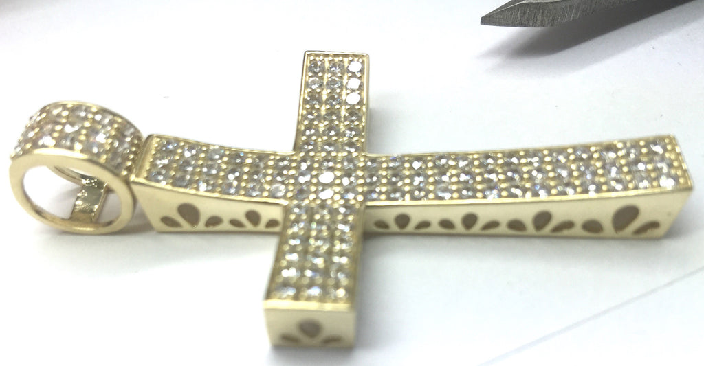 Cross Milania 10K Yellow Gold 12.2 Gr Men Pendant - Solid Gold Online