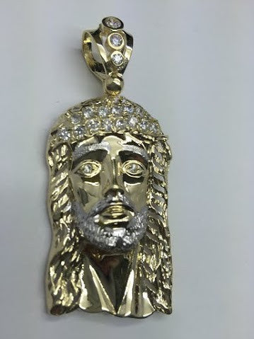 10k Yellow Gold Beautiful Jesus Calabria Pendant 12.7 gram Men Pendant - Solid Gold Online