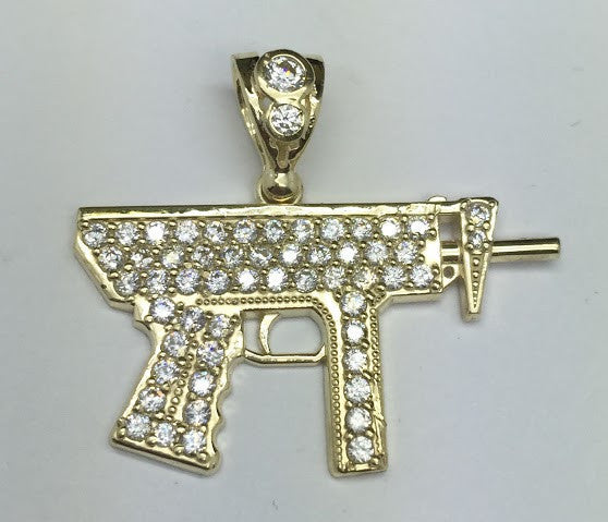 10k Yellow Gold Adorable Gun Pendant 3.82 gram Men Pendant - Solid Gold Online