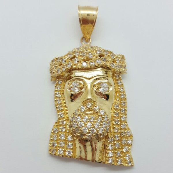 Jesus Arezzo 10K Yellow Gold 13.9 Gr Men Pendant