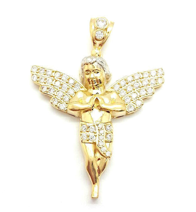 Angel Aprilia 10K Yellow Gold 7.36 Gr Men Pendant - Solid Gold Online