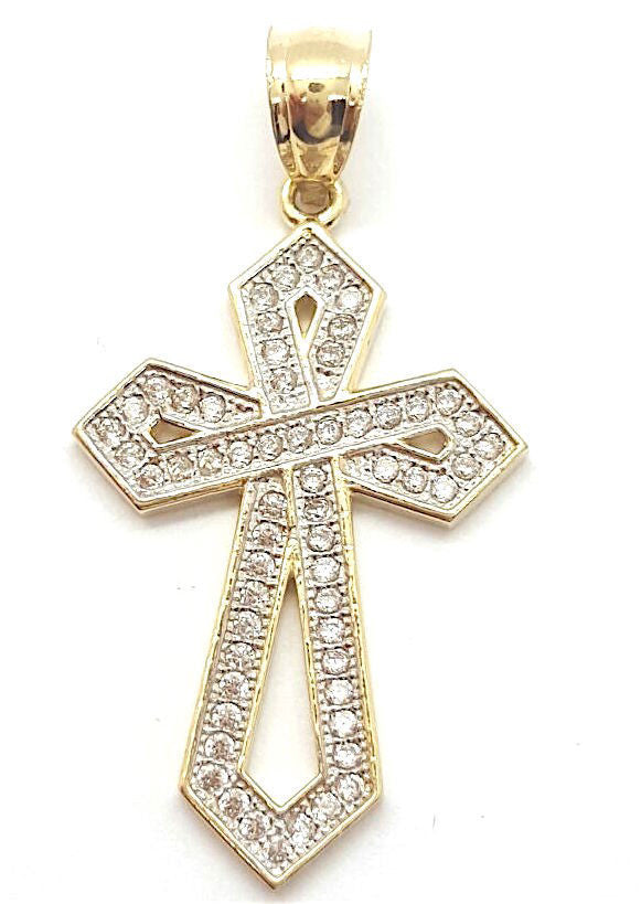 10k Yellow Gold Cross Bari Cute Pendant 2.57 gram Men Pendant - Solid Gold Online