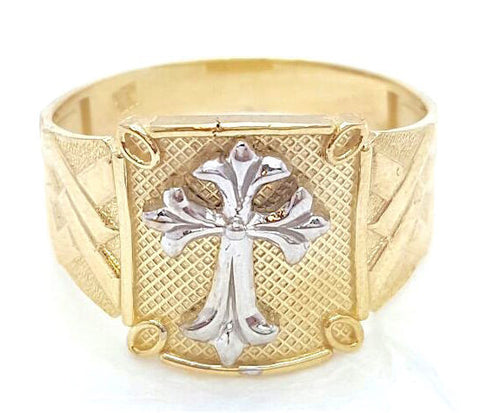 Cross 10k Gold 4 Grams Men Ring - Solid Gold Online