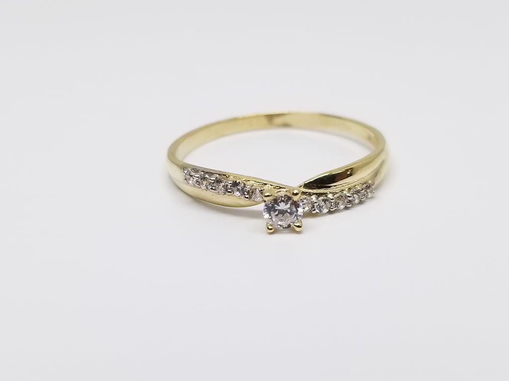 Isla 10k Yellow Gold Women Ring - Solid Gold Online