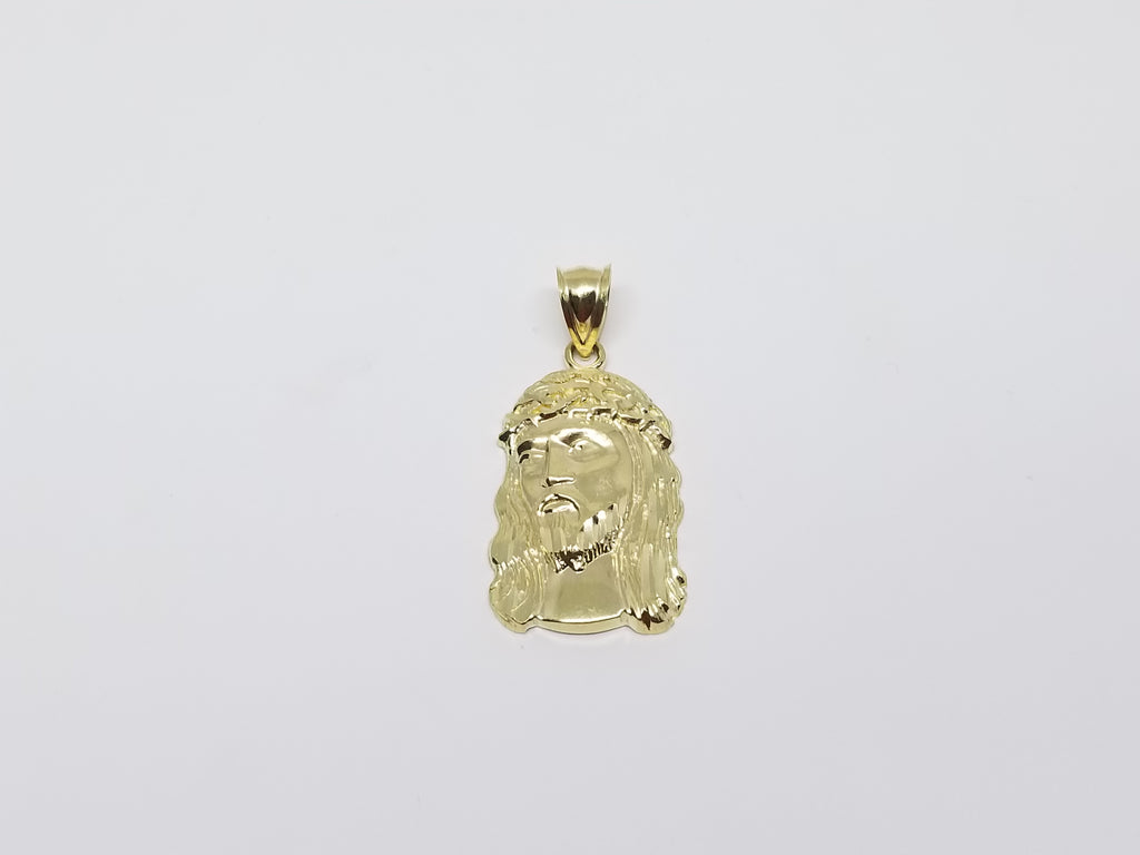 Jesus Christ Head 10K Yellow Gold Pendant - Solid Gold Online