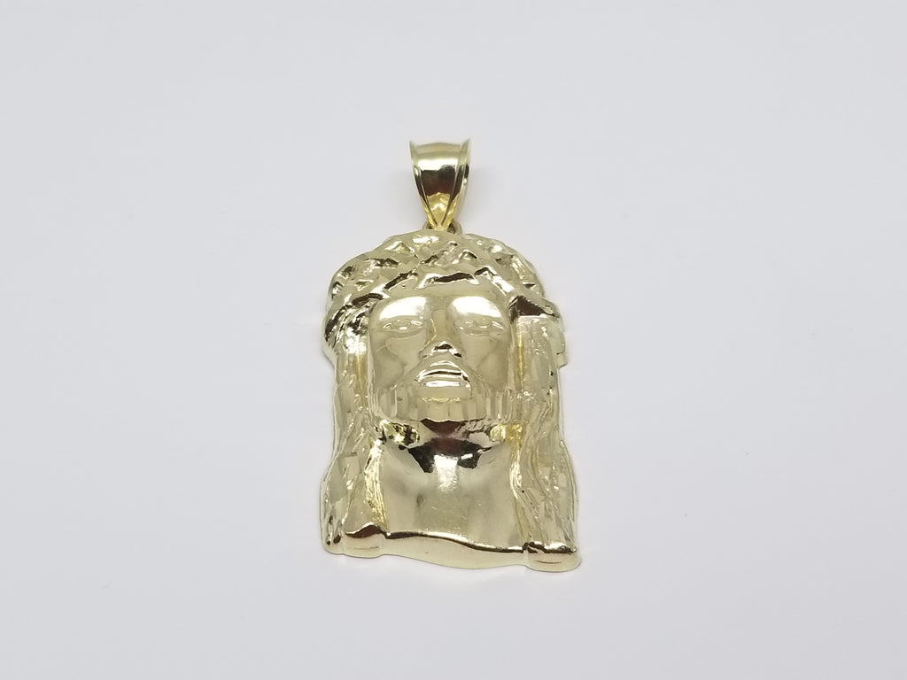 Jesus-Head- 10K Yellow Gold Religious Pendant - Solid Gold Online