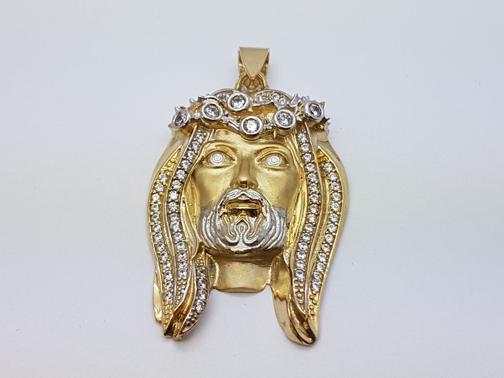 Jesus Matte 10K Yellow Gold 20.8 Gr Men Pendant - Solid Gold Online