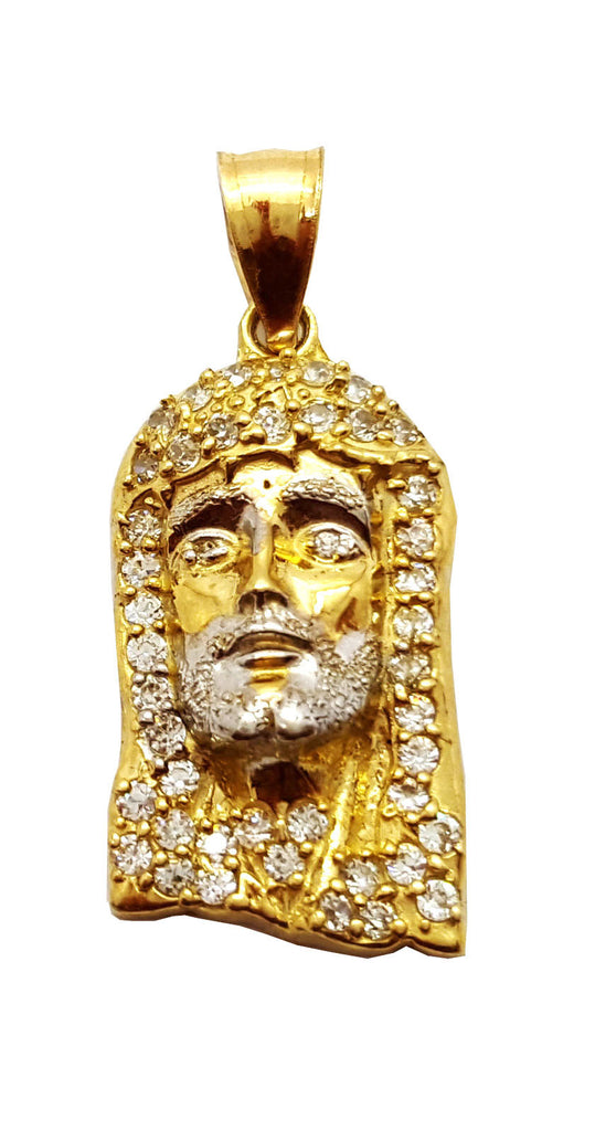 Jesus Abbe 10K Yellow Gold 1.6 Gr Men Pendant