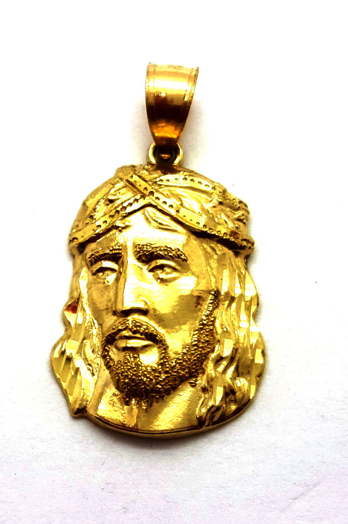Jesus Agape 10K Yellow Gold 1.6 Gr Men Pendant