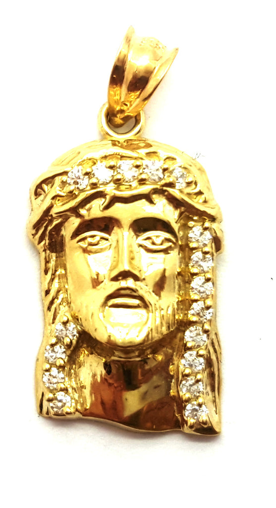 Jesus Christian 10K Yellow Gold 1.9 Gr Men Pendant