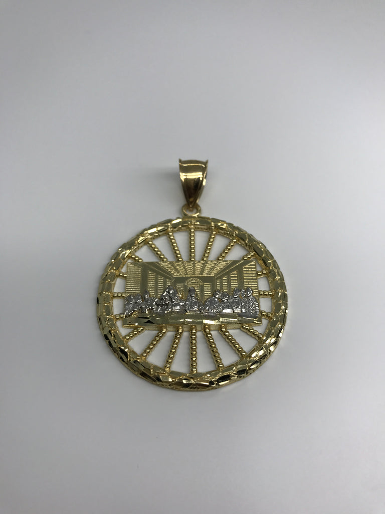 Last Super Gold Christian Civilization Inside The Wheel 10K Yellow Gold Pendant - Solid Gold Online