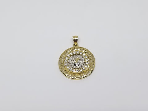Ledo Medusa Head 10K Yellow Gold Pendant