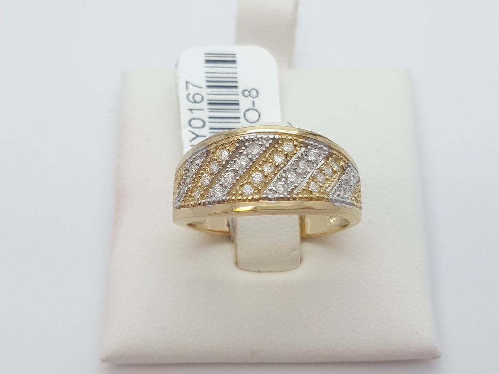 Luigina 10K Yellow Solid Gold Diamond Women Ring