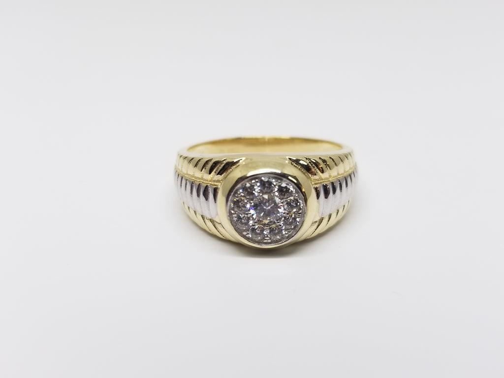 Luke 10K Yellow Gold Men Ring - Solid Gold Online