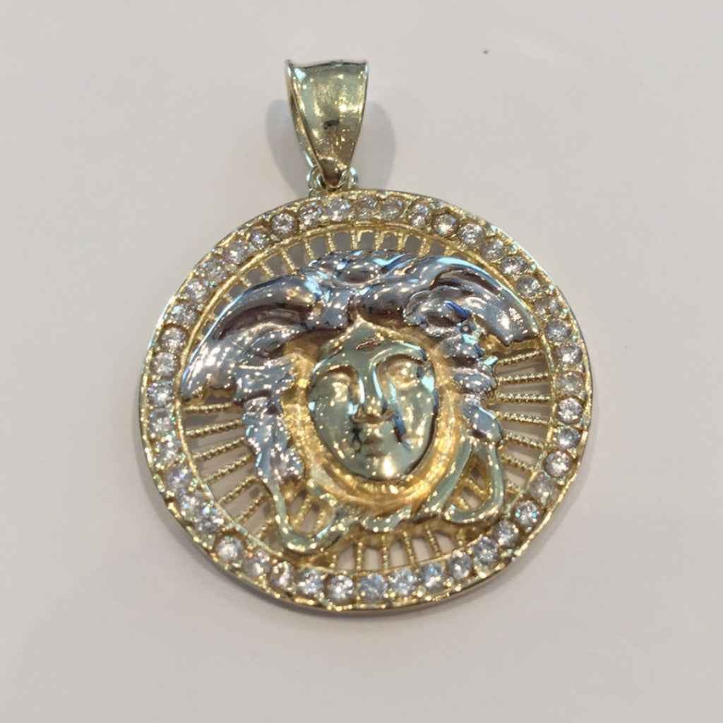 Medusa Savona 10K Yellow Gold 4.1 Gr Men Pendant - Solid Gold Online