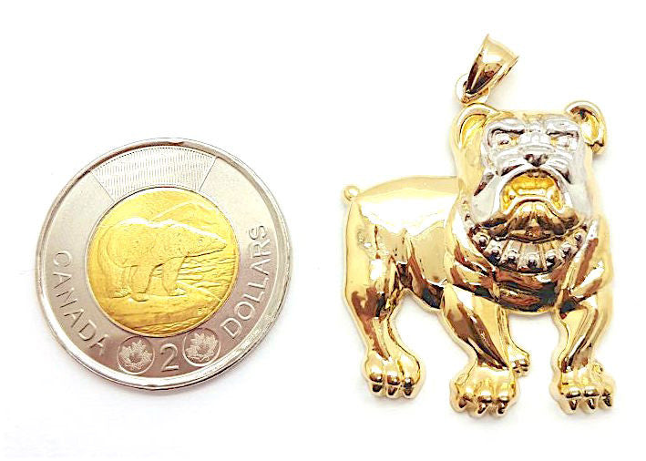 Bulldog Mini 10K Yellow Gold 6.37 Gr Men Pendant