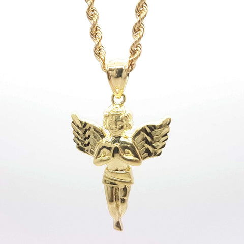 Stylish Angel Gold Pendent with Chain