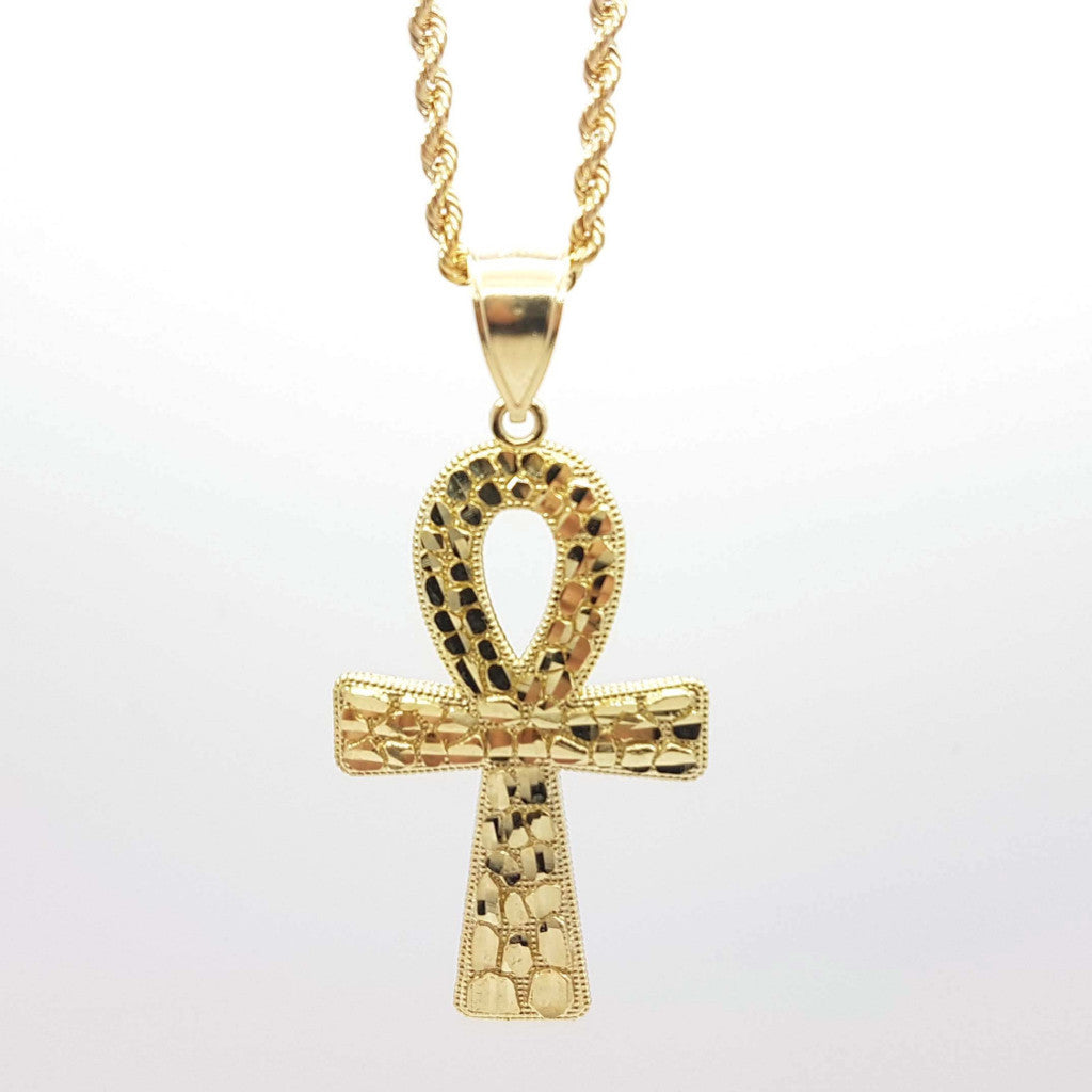 Exclusive Holy Cross 10k Yellow Gold Pendant with Chain - Solid Gold Online