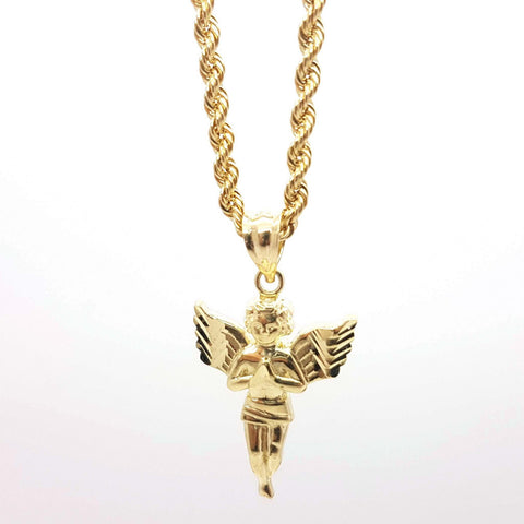 Immaculae Gold Angel Pendent with Chain