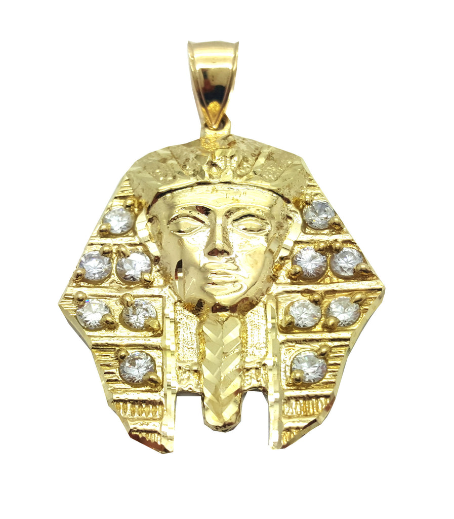 Pharoah Ramesse 10K Yellow Gold 11.15 Gr Men Pendant