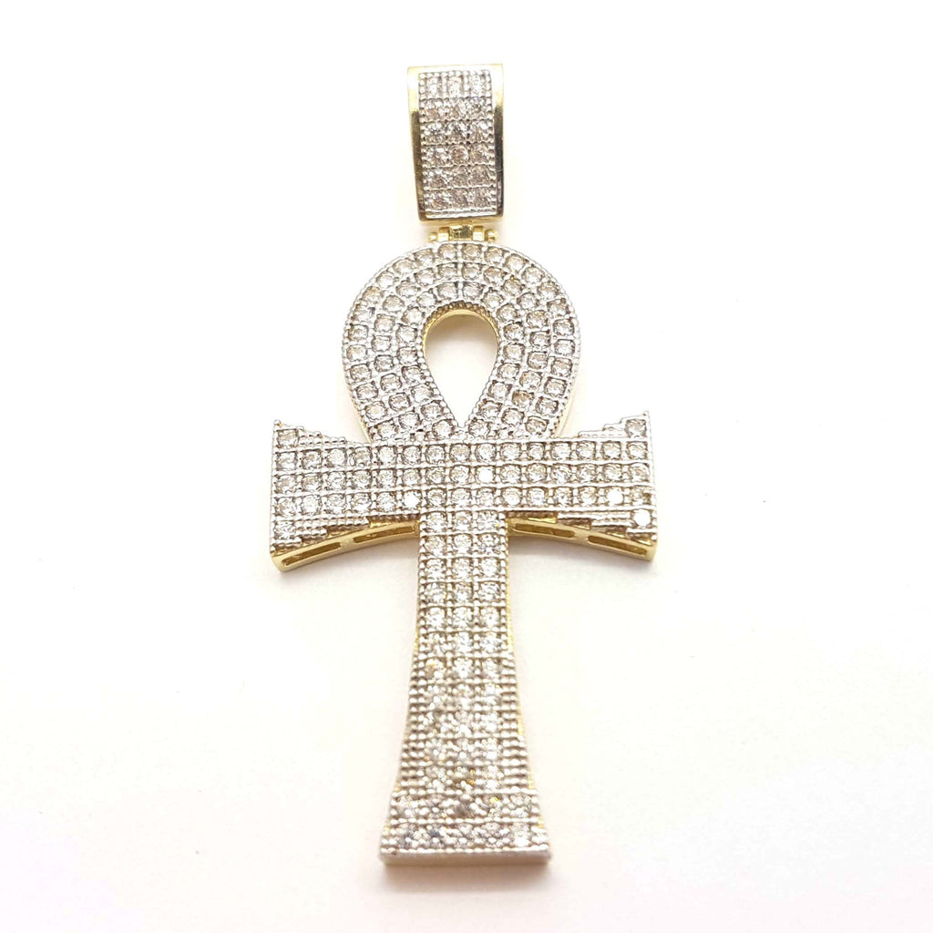 Stylish Holy Cross 10K Yellow Gold Pendant for Men - Solid Gold Online