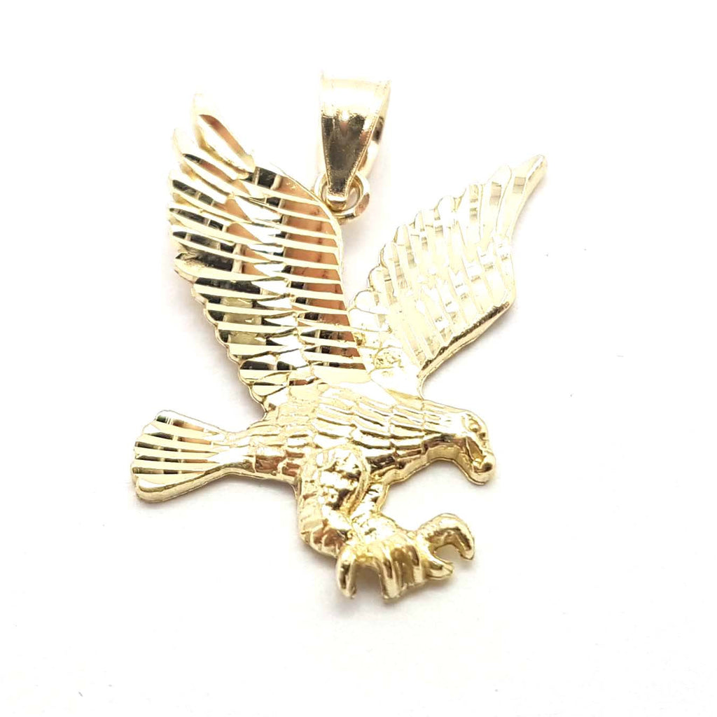 Solid Gold Eagle 10K Yellow Gold  Pendant for Men - Solid Gold Online