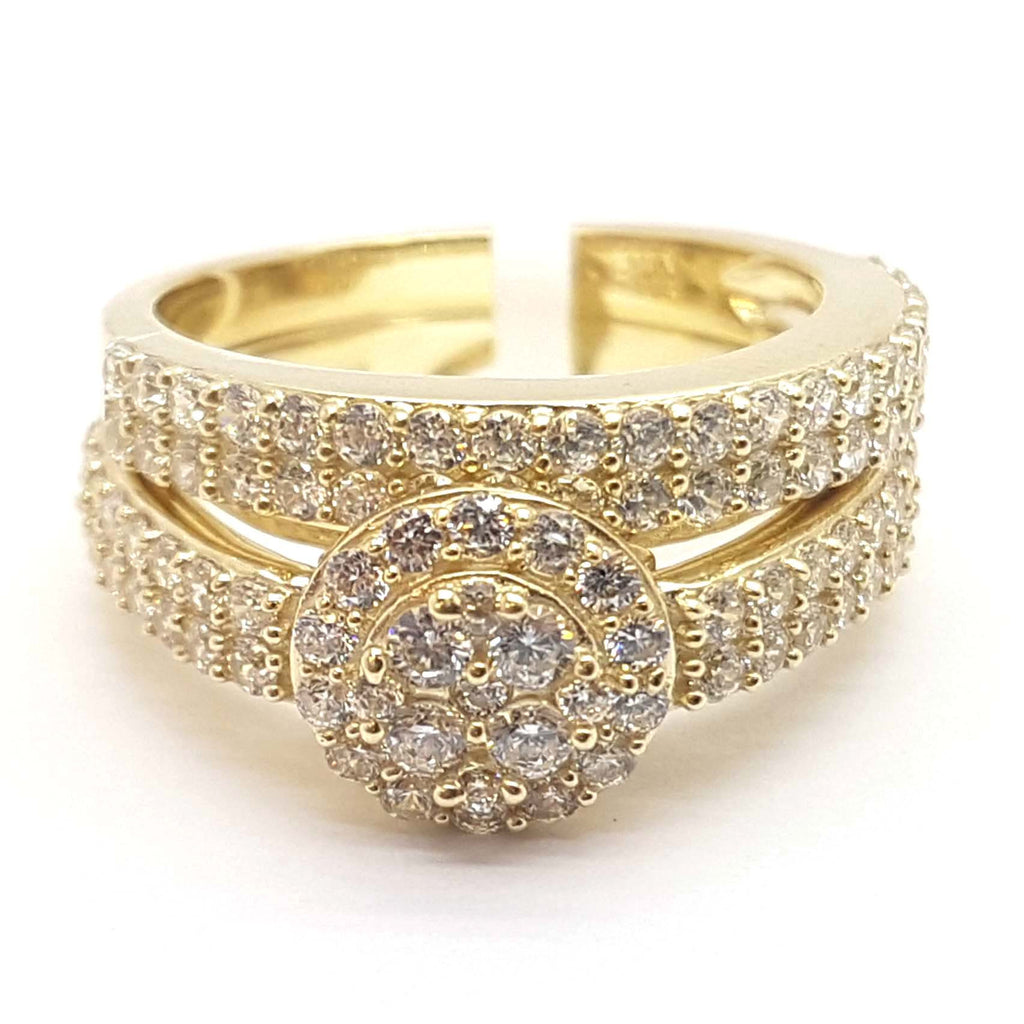 Exclusive Gold Engagement 10K Yellow Gold Ring for Men - Solid Gold Online