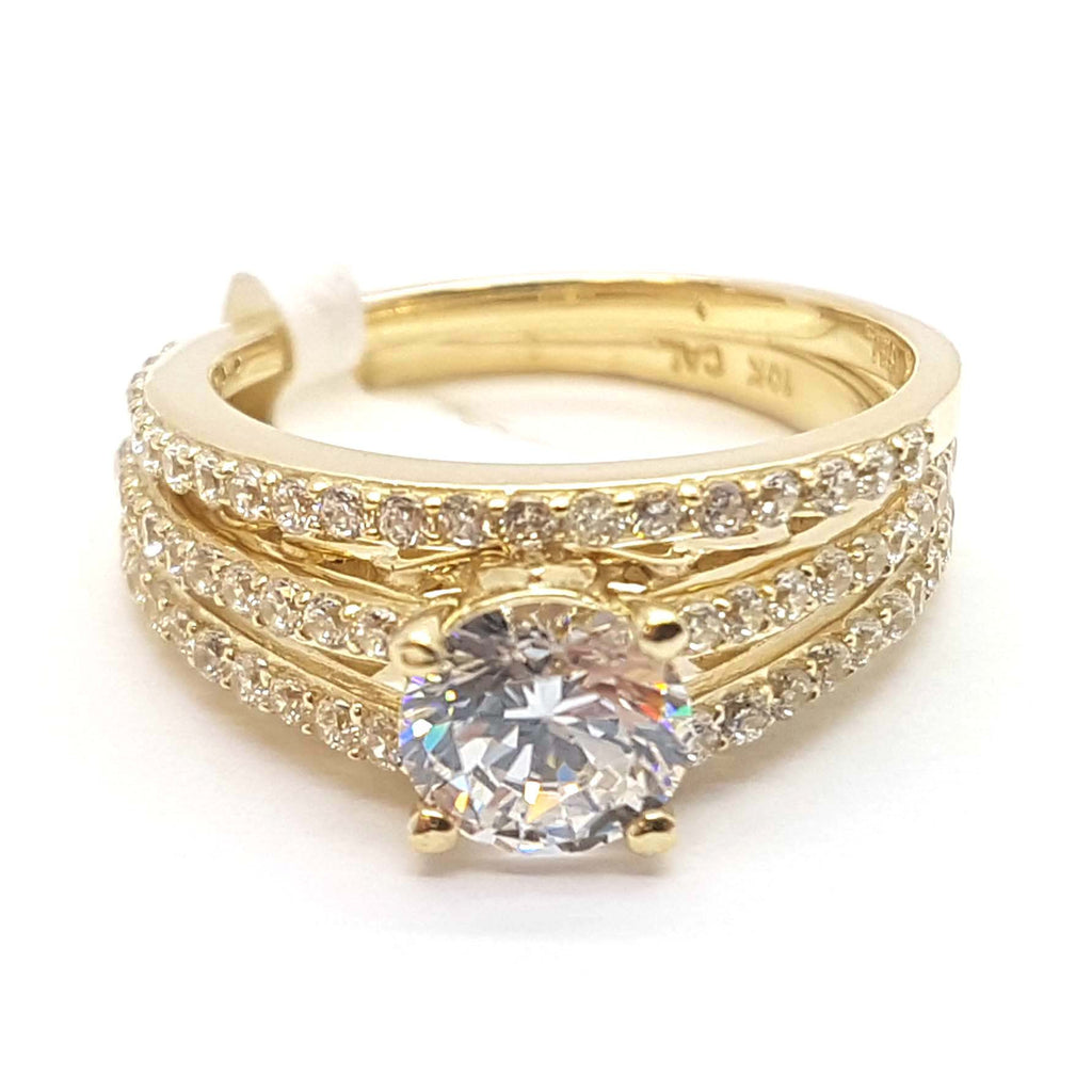 Exception Solid Gold Engagement 10K Yellow Gold Ring for Men - Solid Gold Online