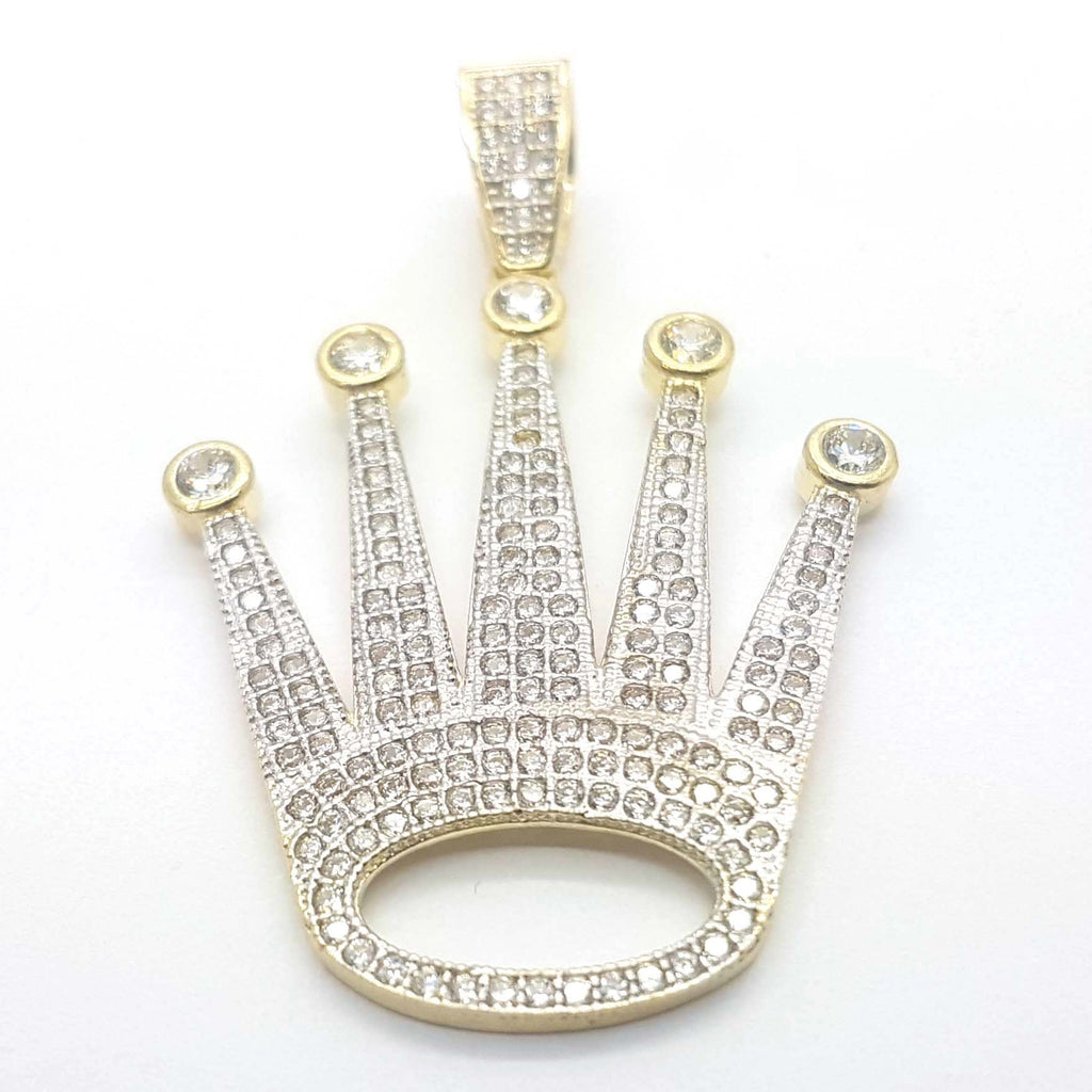 Lovely Kings Crown 10k Yellow Gold  Gold Pendant for Men - Solid Gold Online