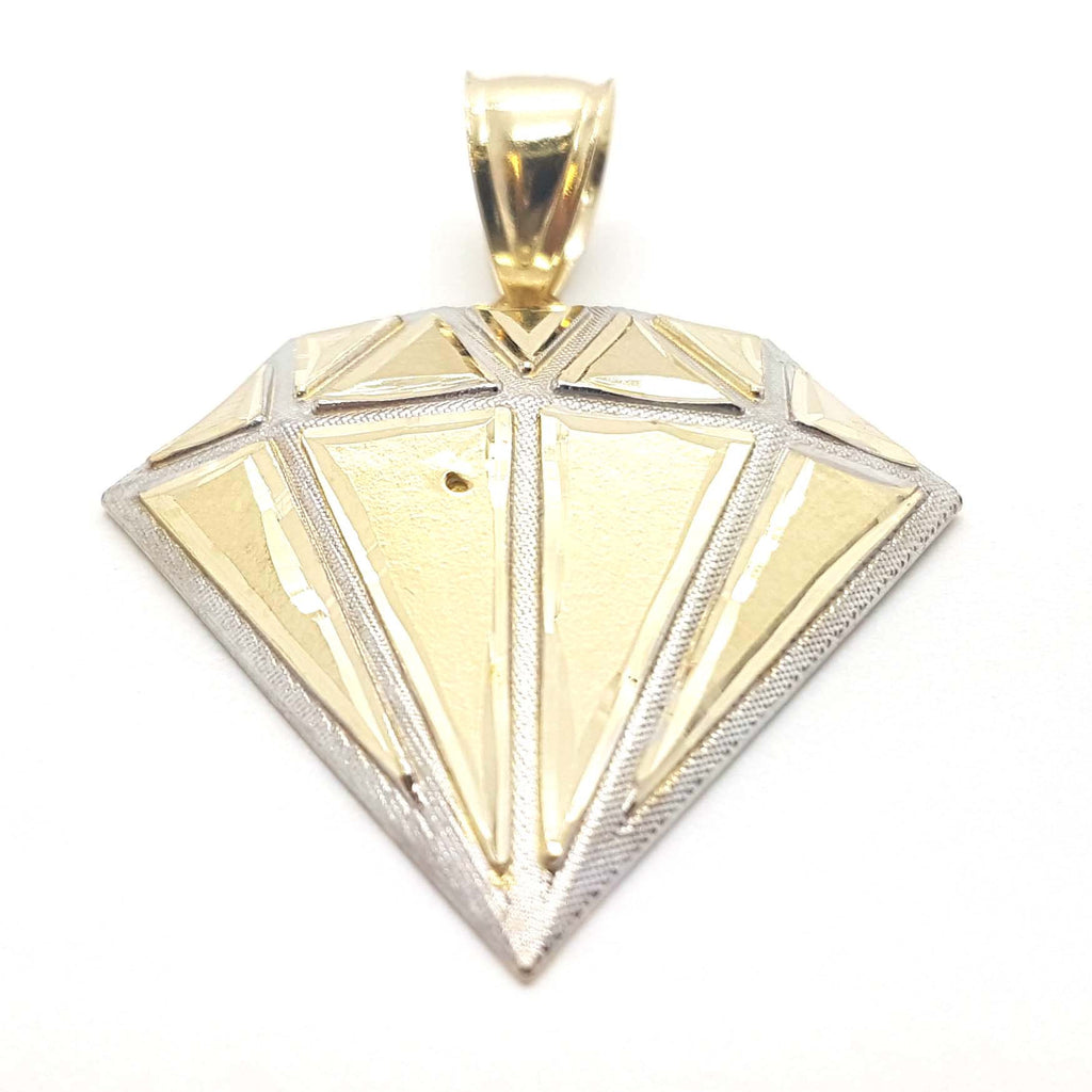 Solid Gold Diamond Designed 10k Yellow Gold Pendant for Men - Solid Gold Online