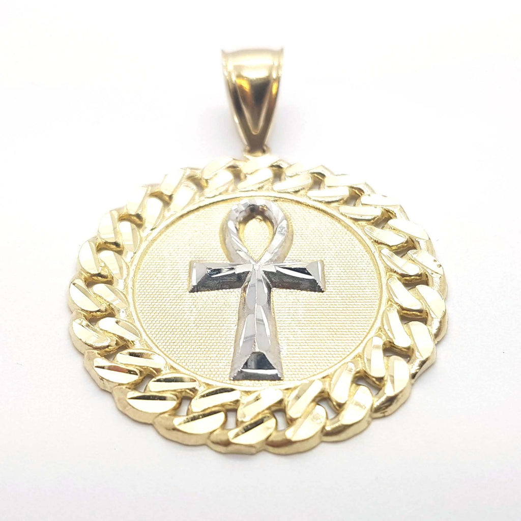 Holy Cross Solid 10k Yellow Gold Pendant for Men - Solid Gold Online