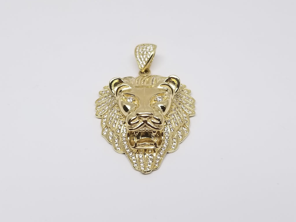Simba Lion 10K Yellow Gold Men Pendant - Solid Gold Online