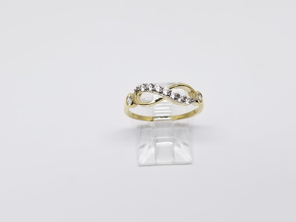 Thick Infinity Design 10K Yelllow Gold Women Ring - Solid Gold Online