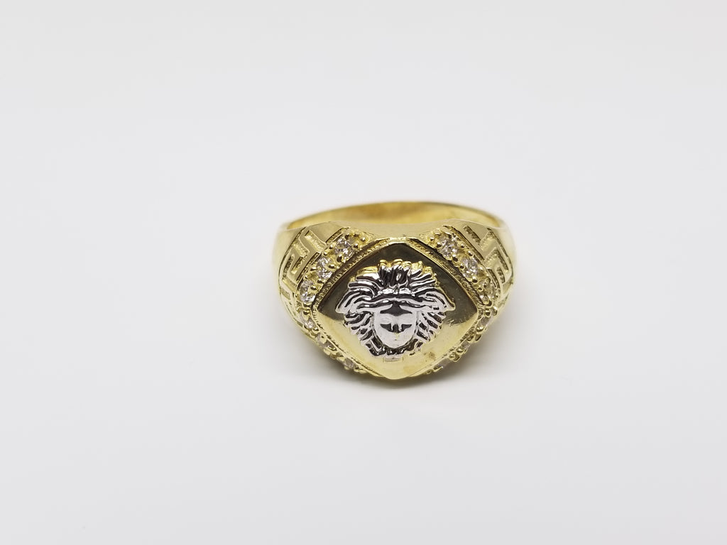 Titan Medusa 10K Yellow Gold Men Ring - Solid Gold Online
