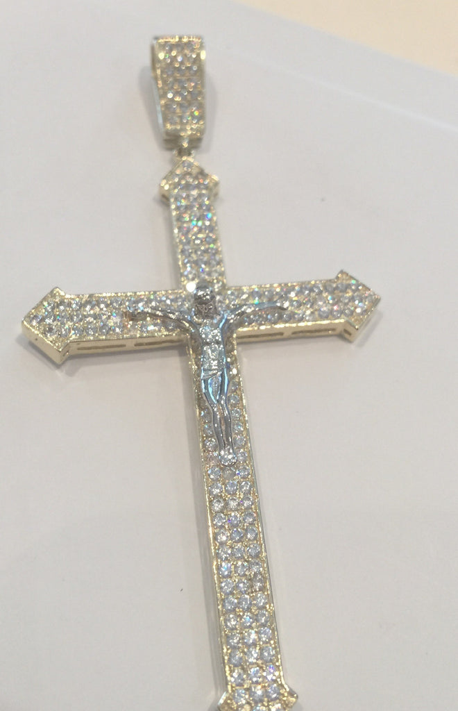 10k Yellow Gold Cross Pescara Pendant 7.26 gram Men Pendant - Solid Gold Online