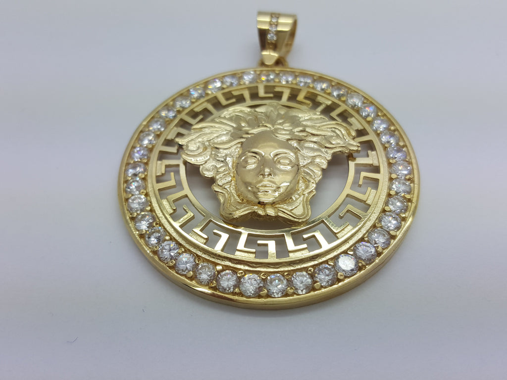 Versace Jumbo 10K Yellow Gold 25.3 Gr Men Pendant - Solid Gold Online