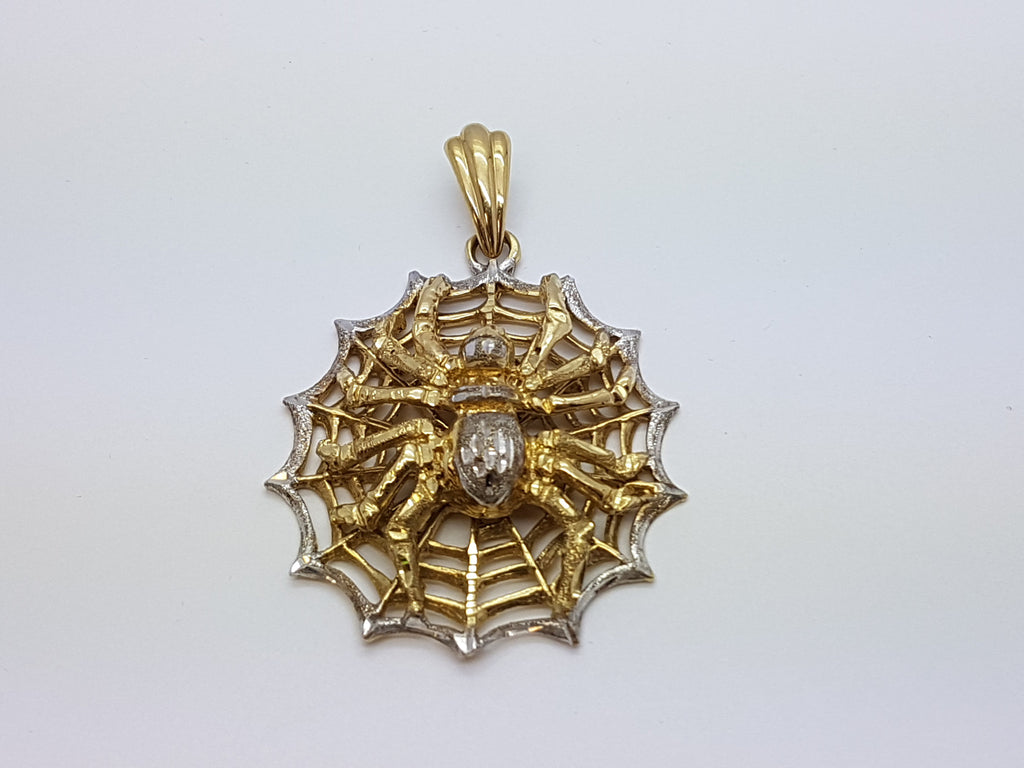 Wild Life Spider 10K Yellow Gold 22.8 Gr Men Pendant - Solid Gold Online