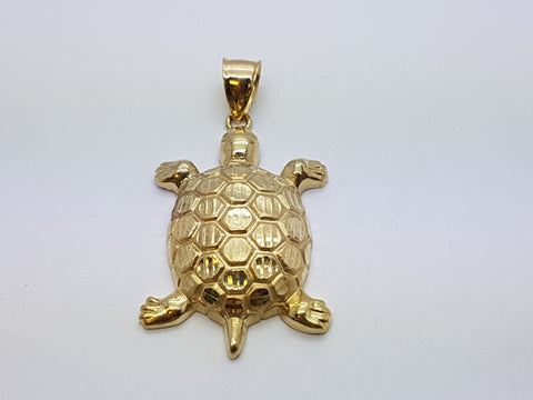 Wild Life Turtle 10K Yellow Gold 4.9 Gr Men Pendant - Solid Gold Online