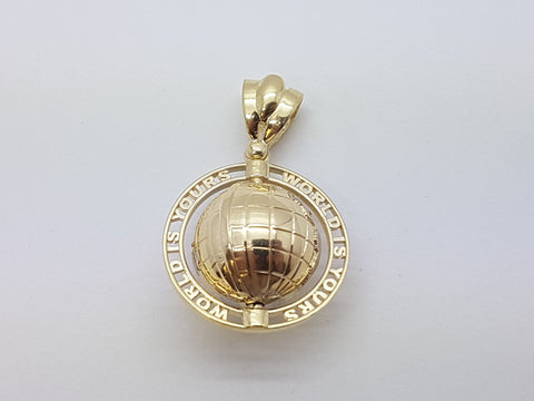 World is Yours 10K Yellow Gold 9.4 Gr Men Pendant - Solid Gold Online