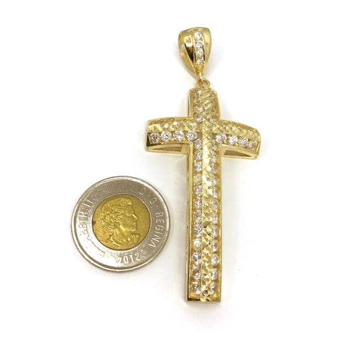 Curve byzantine cross 10k yellow gold pendant solid gold online curve byzantine cross 10k yellow gold pendant mozeypictures Image collections