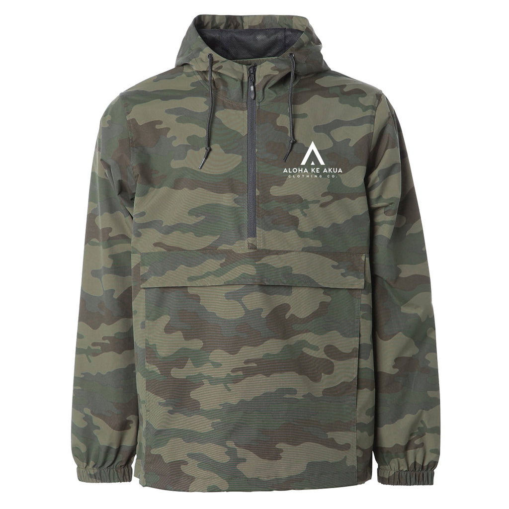 Camo Windbreaker Front Waterproof