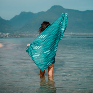 Lau Hala Beach Towel Carried