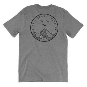 Kū I Luna - Rise Up Tee Back Gray