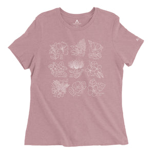Napua Tee Heather Lilac Front