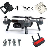 DJI Spark Accessories Bundle Set Combo Lens Cap Hood Sun Shade Camera Cover Protector Landing Gear Guard Protective Bubble Remote Controller Clip Accessory By FSLabs (4 pack) - F/Stop Labs