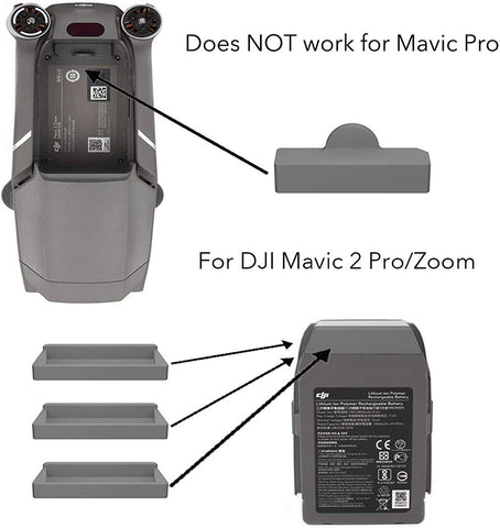 DJI Mavic 2 Pro/Zoom Drone and Battery Terminal Water-Resistant Dust Cover Plug (4 Pack) - F/Stop Labs